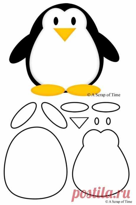 Felt penguin pattern