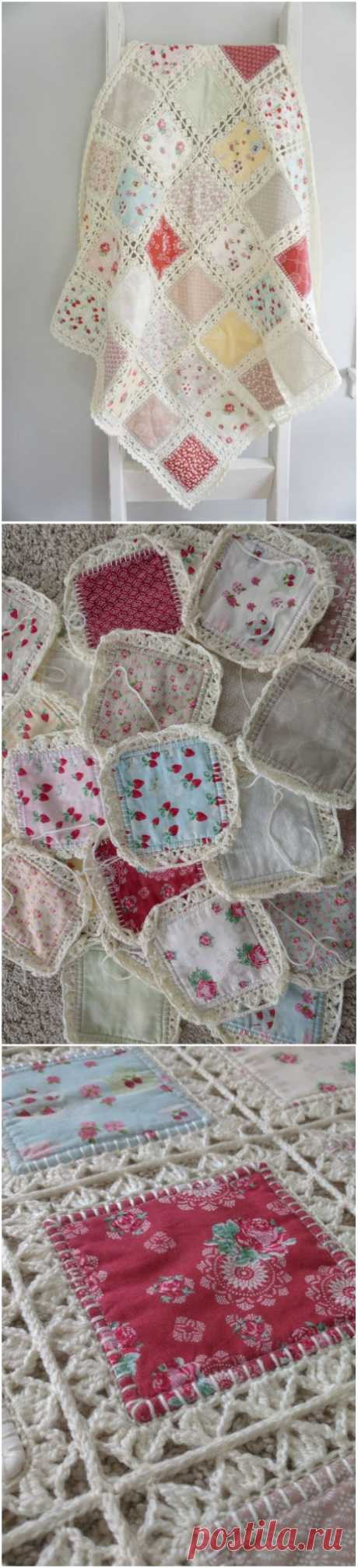 Ткань вязания крючком одеяло это проект, который вы так долго искали