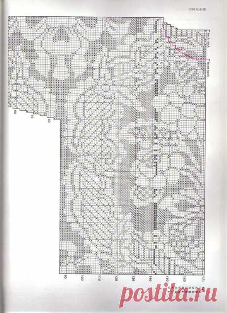 Схема для восхитительной филейной кофточки.