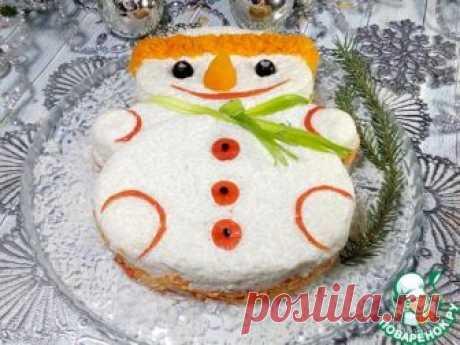 """Новогодний салат """"Снеговик"""" – кулинарный рецепт"""