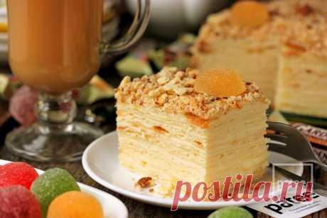 Торт Наполеон творожный - рецепт с фотографиями - Patee. Рецепты