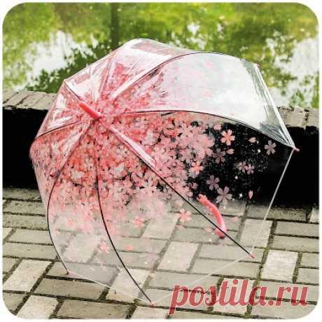 514.55руб. 33% СКИДКА|Романтический прозрачный купольный Зонт с прозрачными цветами, Полуавтоматический зонт для ветра, сильного дождя, Женский солнцезащитный зонт|Зонтики|   | АлиЭкспресс Покупай умнее, живи веселее! Aliexpress.com