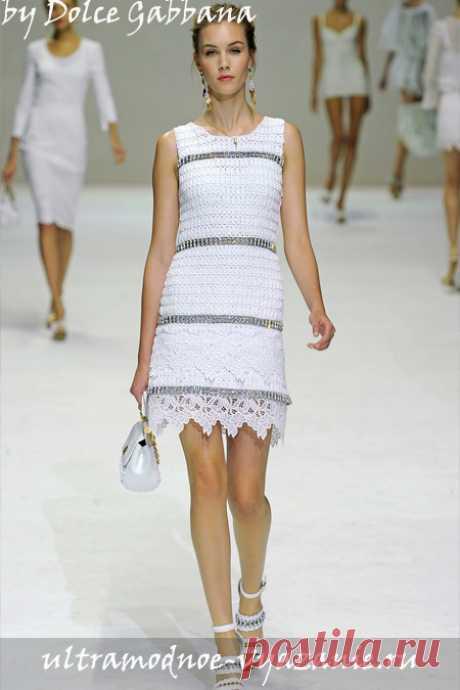 Белоснежный вязаный комплект от Dolce & Gabbana