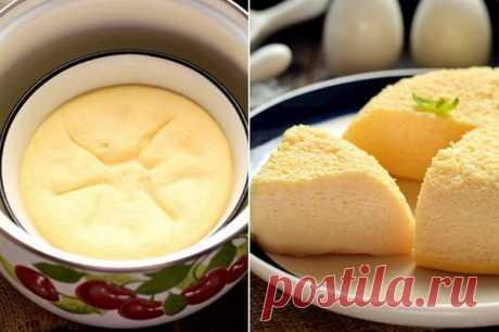 Узнала рецепт идеального омлета – готовится в кастрюле (высокий и нереально пышный)