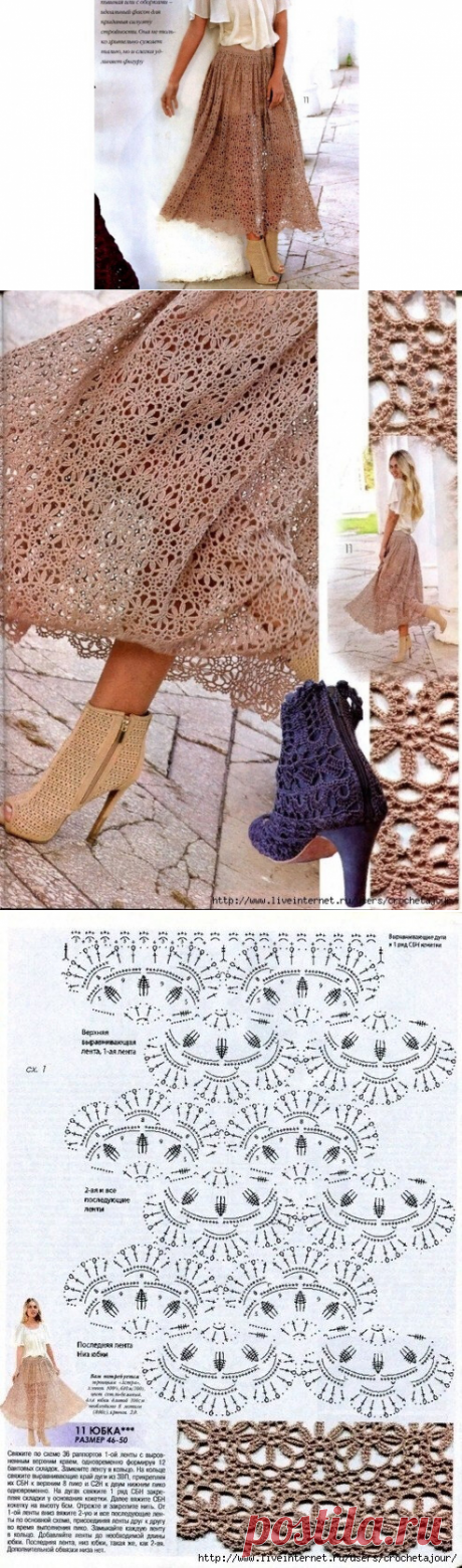 Интересные модели юбок со схемами   Модное вязание   Яндекс Дзен