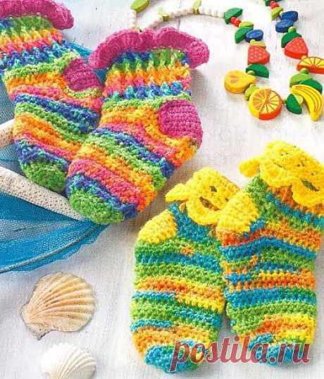Детские носки крючком - Всё о вязании своими руками