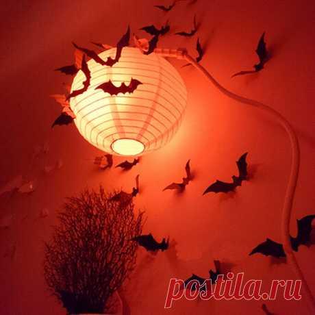 Современные 12шт Bat DIY Bat 3D ПВХ Art Термоаппликации домашний декор настенной росписи стены наклейки Хэллоуин Декор – продажа товаров по низким ценам, в каталоге товаров из Китая. Бесплатная доставка и большой выбор.