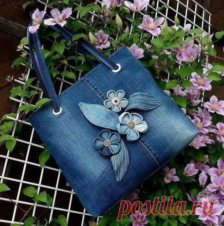 Jeans bags. Several ideas for inspiration — the Inspiration of the Needlewoman Magazine