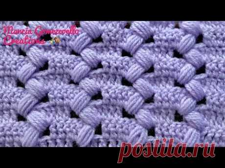 TEJIDOS A CROCHET: Punto Puff Zigzag/ HOW TO CROCHET: Puff zigzag - YouTube
