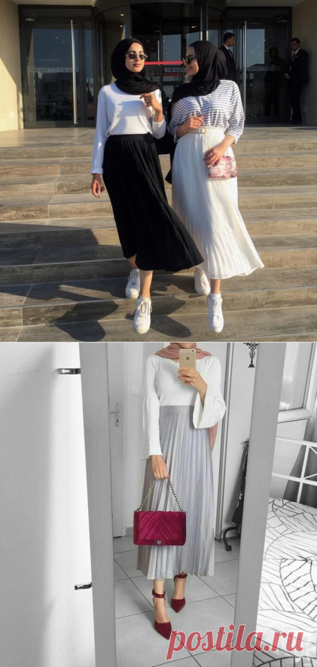 Chic Ways to Style Pleated Skirt For Hijab - Hijab-style.com