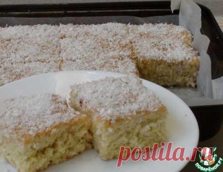 Сочный кокосовый пирог – кулинарный рецепт
