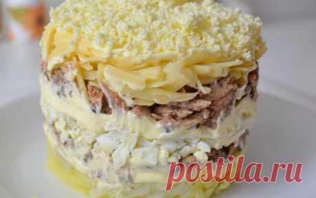 "Салат ""Нежный"" — Sloosh – кулинарные рецепты"