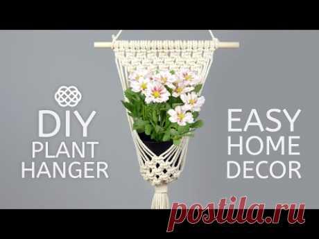 MACRAME PLANT HANGER PATTERN FOR BEGINNERS   DIY POT HOLDER