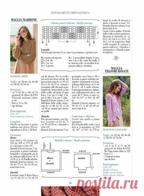 Нашла узоры спицами в итальянском журнале по вязанию. Делюсь (подборка из 20 схем)   Факультет рукоделия   Яндекс Дзен