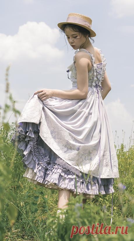 Jewelry in Sunrise -Days to Remember- Vintage Classic Lolita Jumper Dress,Lolita Dresses, - Salvabrani