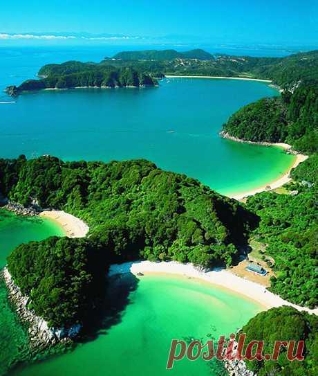 Абель Тасман - это самый маленький по площади, но, пожалуй,  самый красивый в Новой Зеландии национальный парк. Abel Tasman, Новая Зеландия