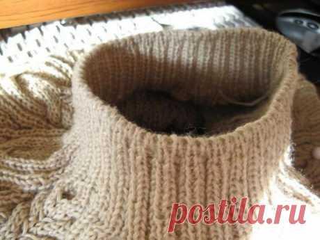 Интересный способ вязания эластичной резинки