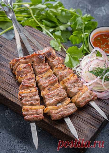 Рецепт фирменного узбекского шашлыка - уч панжа кабоб