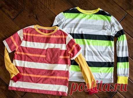 Выкройка детской футболки с коротким и длинным рукавом | Хозяюшки