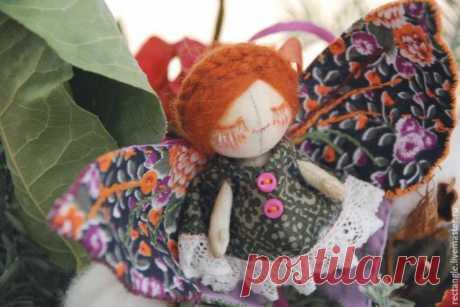 МК: текстильная кукла-брошь | all Dolls