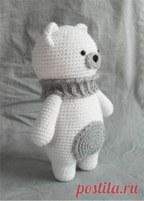 Белый Полярный Мишка Амигуруми Крючком – Схема – Амигурумик