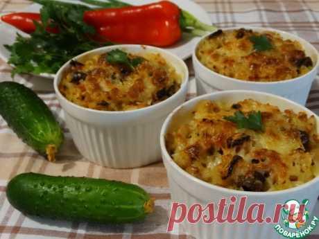 Куриные сердечки с фасолью и рисом Кулинарный рецепт
