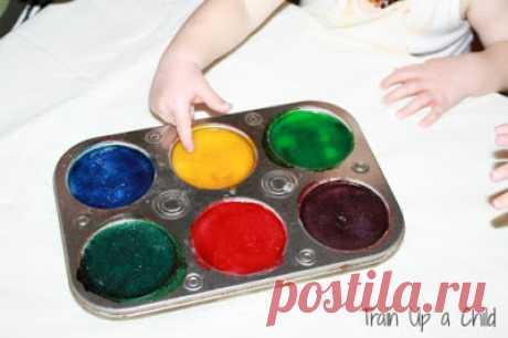 Съедобные пальчиковые краски для детей от 11 месяцев