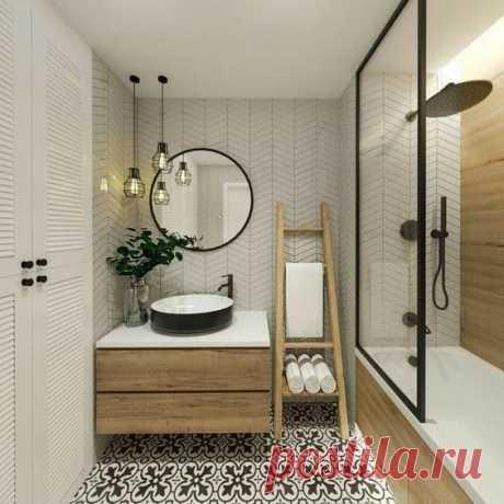 Лаконичная и продуманная ванная комната. Дизайн на высшем уровне