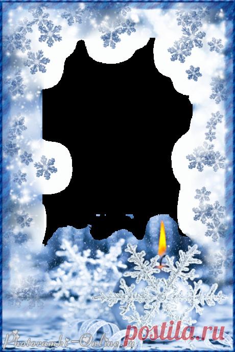 Зимние рамки для поздравления с днем рождения, картинки