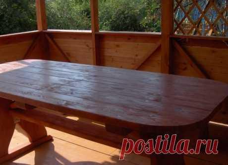 Деревянный стол своими руками для беседки – как изготовить?   Огородные шпаргалки   Яндекс Дзен
