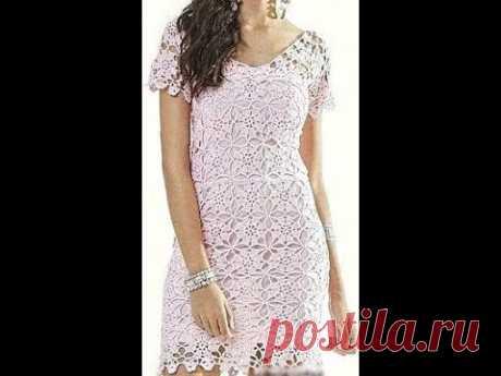 Vestido de crochê em quadradinho parte 1º com Viviane Santos