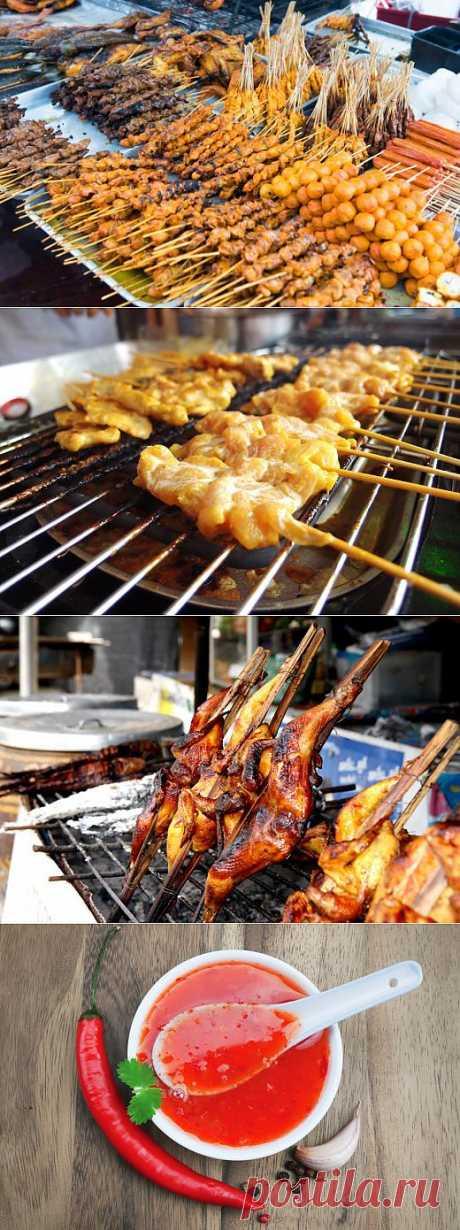 РЕЦЕПТЫ: Тайские шашлычки и сладкий соус чили | Лайфхакер