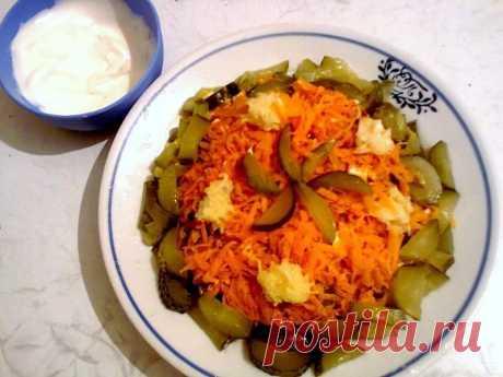 Obzhork's salad with chicken