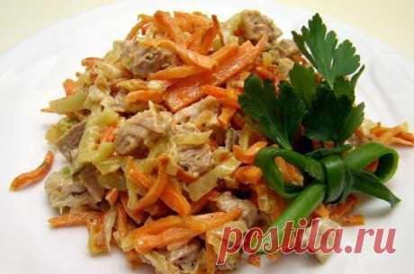 Салат с мясом «Очарование» / Простые рецепты