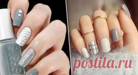 Серый цвет — это круто! Выберите из 50 вариантов модного маникюра ваш Предлагаем вашему вниманию полсотни идей различных дизайнов маникюра, которые убедят вас в том, что серый цвет может быть очень интересным. Серый цвет прекрасно смотрится на ногтях любой формы и длины