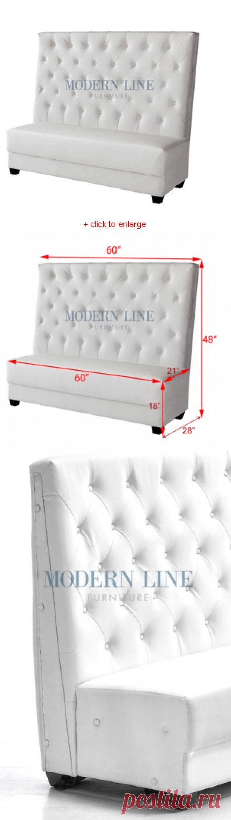 Modern furniture | Contemporary furniture | Nightclub Furniture | Designer Furniture | Seating Collection | | | Modern White Leather Armless Tall Back Booth