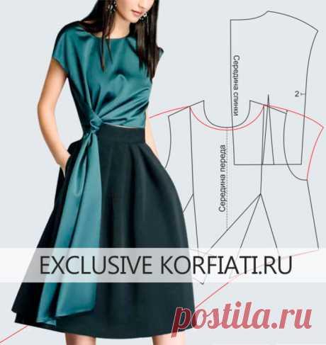 Выкройка блузки с драпировкой от Анастасии Корфиати