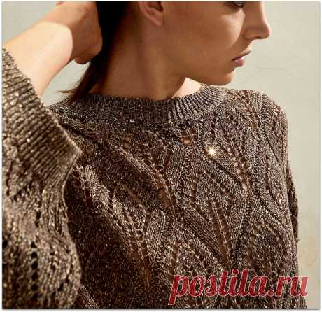 Модные вещи одним узором — пуловер, джемпер и кардиган от Brunello Cucinelli. Подобрала схему и связала образец | Paradosik_Handmade | Яндекс Дзен
