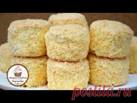 Пирожные Бисквитно-кремовые (Потрясающе вкусные и самые нежные!) ☆ Марьяна Рецепты