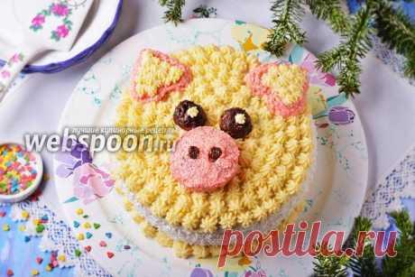 Торт «Свинья» — рецепт торта на Новый год Свиньи с фото на Webspoon.ru