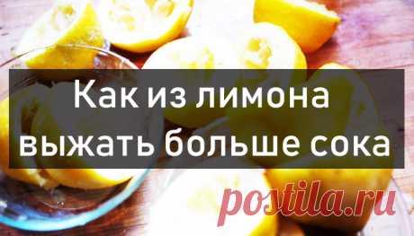 Леди Красота | Как из лимона выжать больше сока