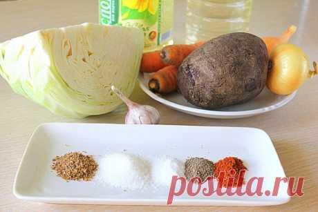 Салат с капустой и свеклой по корейски / Меню недели