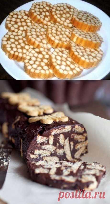 Сладкая колбаска из печенья - 5 рецептов с