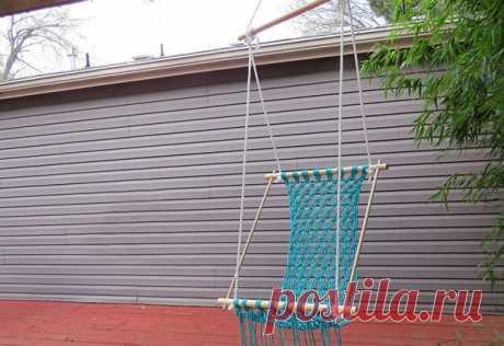 Плетеный гамак для дачи или балкона — Сделай сам, идеи для творчества - DIY Ideas