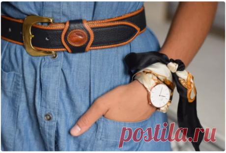 Часы на платке (diy) Модная одежда и дизайн интерьера своими руками