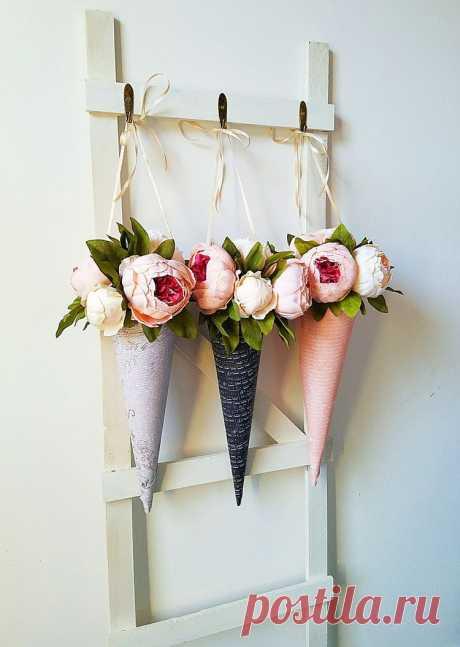 DIY цветочные конусы результаты изображения # DIY цветочные конусы #ремесла #цветы #шаббычик