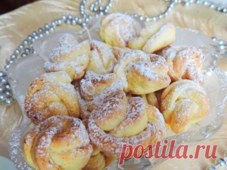 Вкусное и очень красивое творожное печенье «Чайная роза»