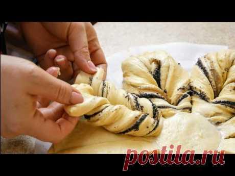 Воздушный и лёгкий сдобный ПИРОГ с маково-ореховой начинкой, цыганка готовит. Gipsy cuisine.