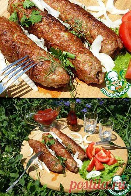 Люля–кебаб с соусом «Терияки» и фисташками