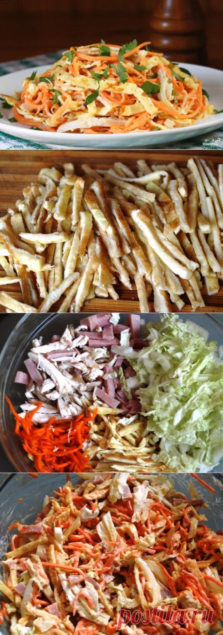 Салат с курицей и морковью - пошаговый кулинарный рецепт с фото на Повар.ру